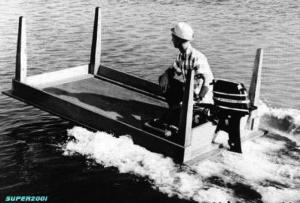 Köksbord som båt